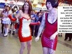 Latex Maids-Scheiss Transvestitenschweine totpressen&verbrennen