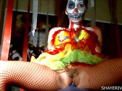 De Shaye Ríos de Halloween Clown La masturbación