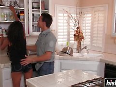 Neela Sky enjoys fucking in the kitchen