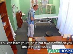 FakeHospital Patient gives his nurse a cream pie