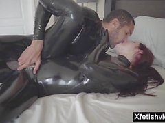 hot pornstar latex and cumshot video