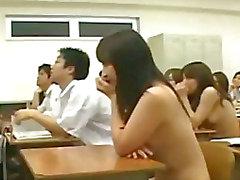 Estudantes japonesas ENF CMNF de escola novo nude envergonhado Legendado