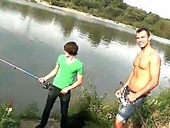 Schwänze Homosexuell Öffentlichkeit Anal Sex am See!