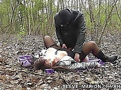 Real Sex Sklave gebunden, bestraft, gangbanged