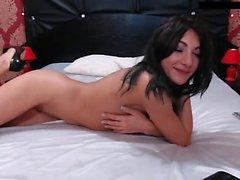 Teen Girl Solo Onani och Striptease 29