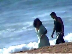 Par Marroquí atrapado puta en la playa de