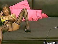 Kamera Slut Gelen Stockings ve High Heels