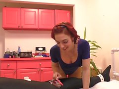 Chasity teasing makes slave crazy