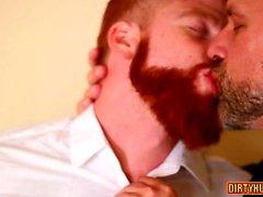 Мышечная гей-тройка с лицевой