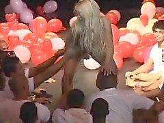 brazilian MILF birthday fuck party