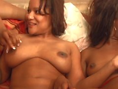 Curvy black lesbians chicks have pussing eating orgy