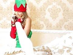 Dünne Teen Gina Gerson Ruft DP für Weihnachten