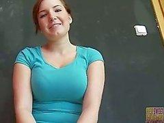 Söt tjeckiska flicka Star - 1: a gången knullade på kameran