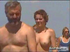 Von Zandvoort holländischen Strand Toplesse Nackt Titten zwölf