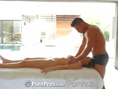 PORNPROS Big tit Alexis Adams massage fucked and facialed