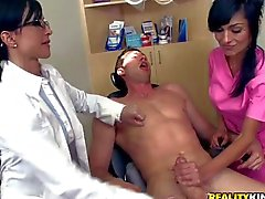 Guy gets jerked off by Jewels Jade and Persia Pele