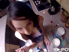 POVD Whip cream covered dick for Emily Grey