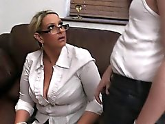He fucks hot big tits lady in uniform