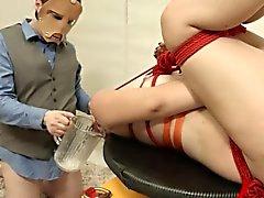 precioso anal acción DDSM con la cuerda y el hijo de puta