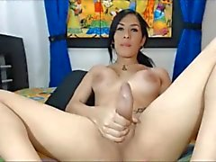 Brunette shemale with fat dick