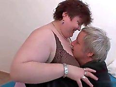 Medelålders BBW njuta av sex .