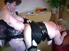 My busty mom is a lesbian !! Stolen video