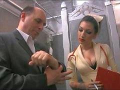 Enfermera a Cybill Suturas la polla en Del coño