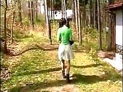 Viejo Pares embarazados de seduce hijo en los bosques