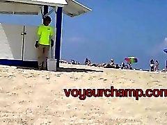 voyeurchamp #Exhibitionist жены Ники Пляж дразнит Бразилии