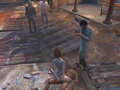 Fallout 4 orgia público en la ciudad del diamante