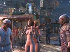 Fallout 4 gangbang público em Diamond City