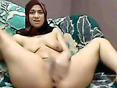 Arab Slut RubbingHer Pussy