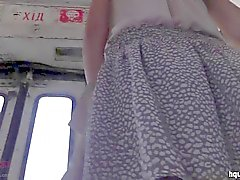 the young upskirt with funny panty