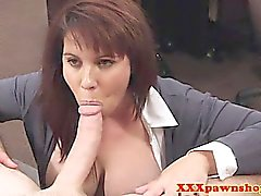 Real busty milfs backroom pawnshop bj