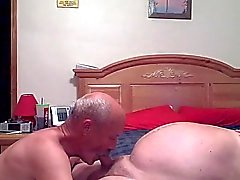Grandpas having great fun in the bedroom