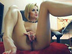 Masturbation with a pretty blonde babe