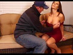 Hot Desperate Housewife de MILF perde Cenas dinheiro do aluguel 1 & 2 Mandy Flores