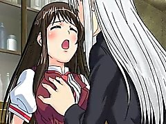 Cute hentai schoolgirl gets fucked from behind