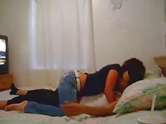 Oda eğlenmeyi Sevimli Amateur Couple