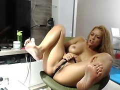 Sporco Parlant Blonde MILF Toying DP