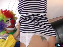 Strümpfe Brit Clown cum
