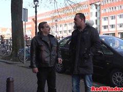 Néerlandais hooker dickriding touriste inverse