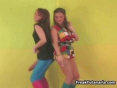 Two sexy girls dancing