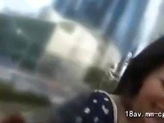 Hot boquete POV asiática ao ar livre