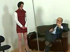Kız ceza ve aşağılanan