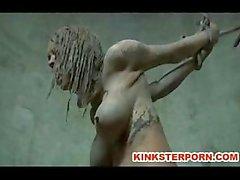 Outdoor BDSM Disgrace Escravo lama