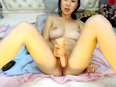 Girl asian masturbation with her toys