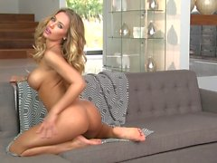 Big boobed Nicole Aniston demonstrates her wet hole