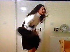 Ventosa saia de a menina de escritório