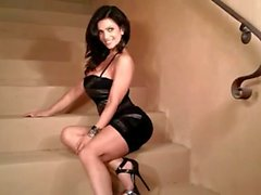 Denise Milani Hot on Stairs - non nude